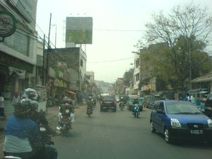 The streets of Bandung.
