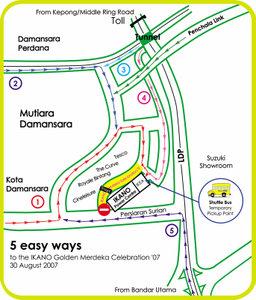Mutiara Damansara road closures.