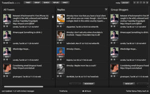 The Adobe AIR-powered TweetDeck Beta.