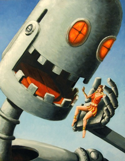 Big bad life can be like a big bad robot. Worried yet?
