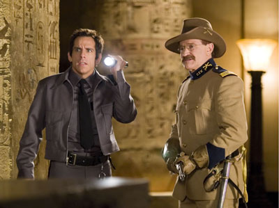 A scene from Night at the Museum