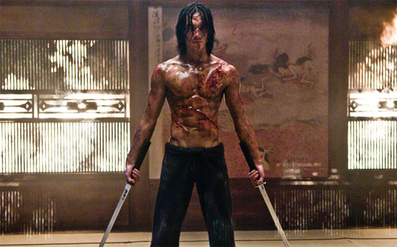 Rain as Raizo in Ninja Assassin