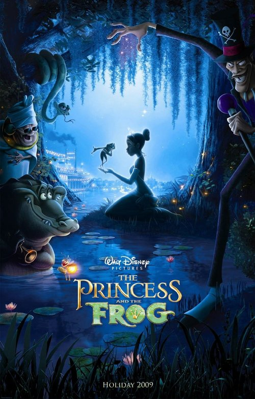 princess and the frog poster. We watched the Princess and