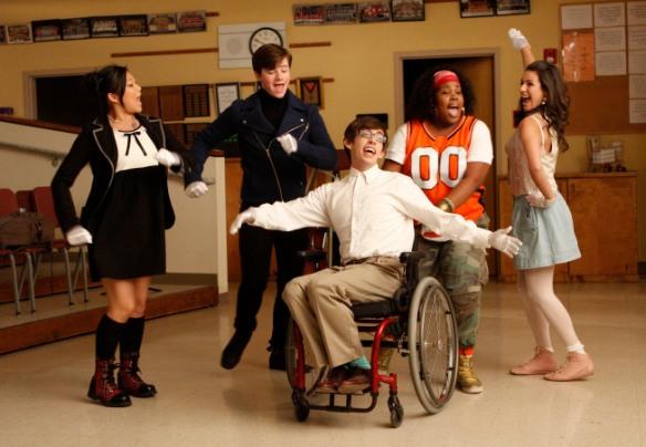 Tina, Kurt, Artie, Mercedes & Rachel